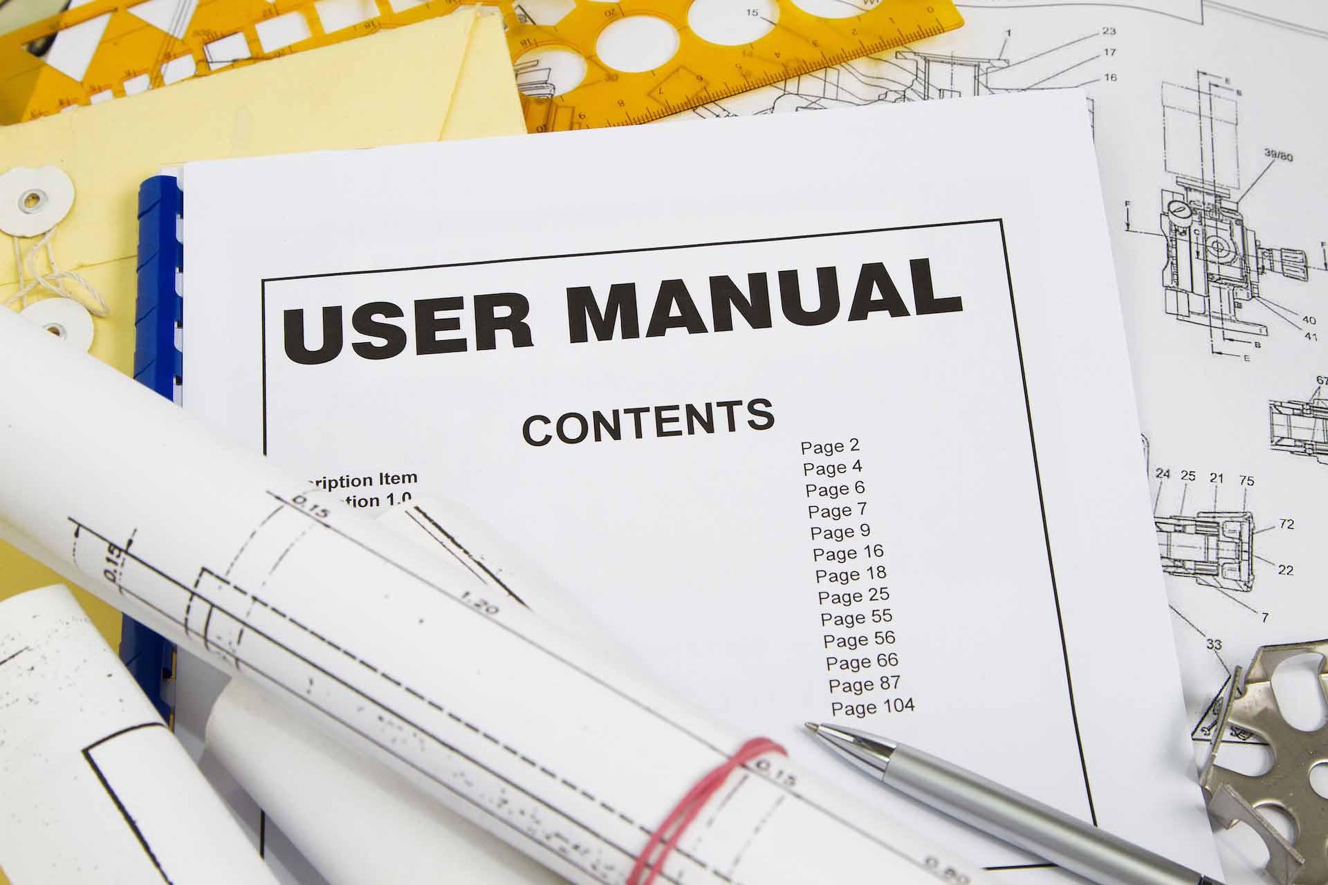 User manual writing